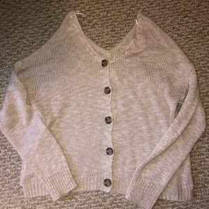 ADORABLE Cream Colored VNeck Button Sweater!!